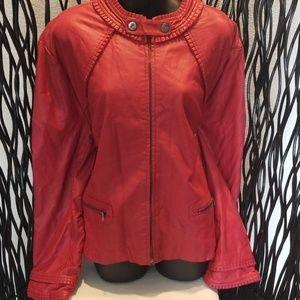 Red Ladies Sports Jacket.